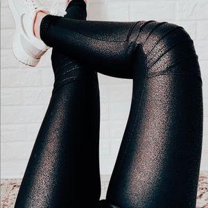 Mono B Pants & Jumpsuits - Moto Highwaist Foil Scale Print Full Leggings